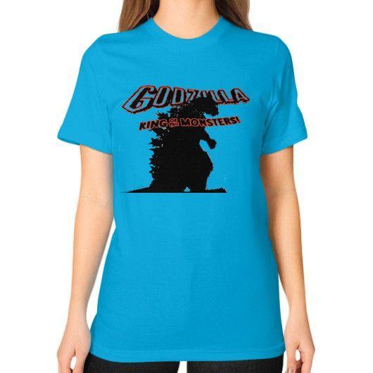 Godzilla Unisex T-Shirt (on woman)