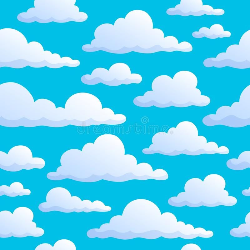 Seamless Background Clouds On Sky Eps10 Vector Illustration Aff Clouds Background Seamless Sky Illustrat Cartoon Clouds Cloud Illustration Clouds