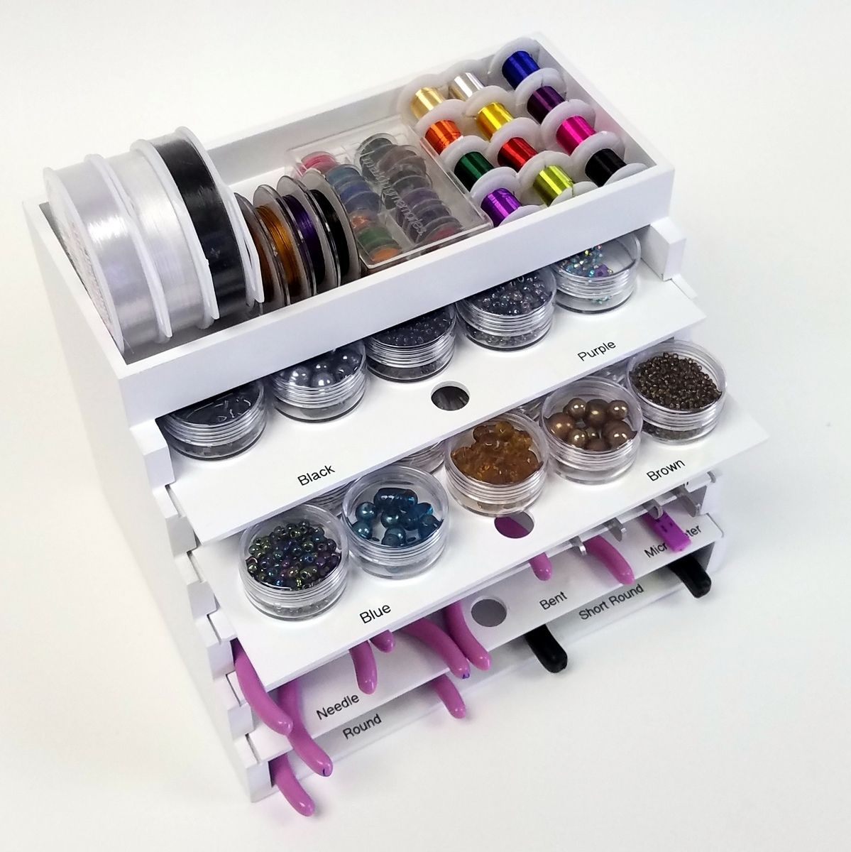 Jewelry Tool and Supply organizer Ink Pads Daubers Ink