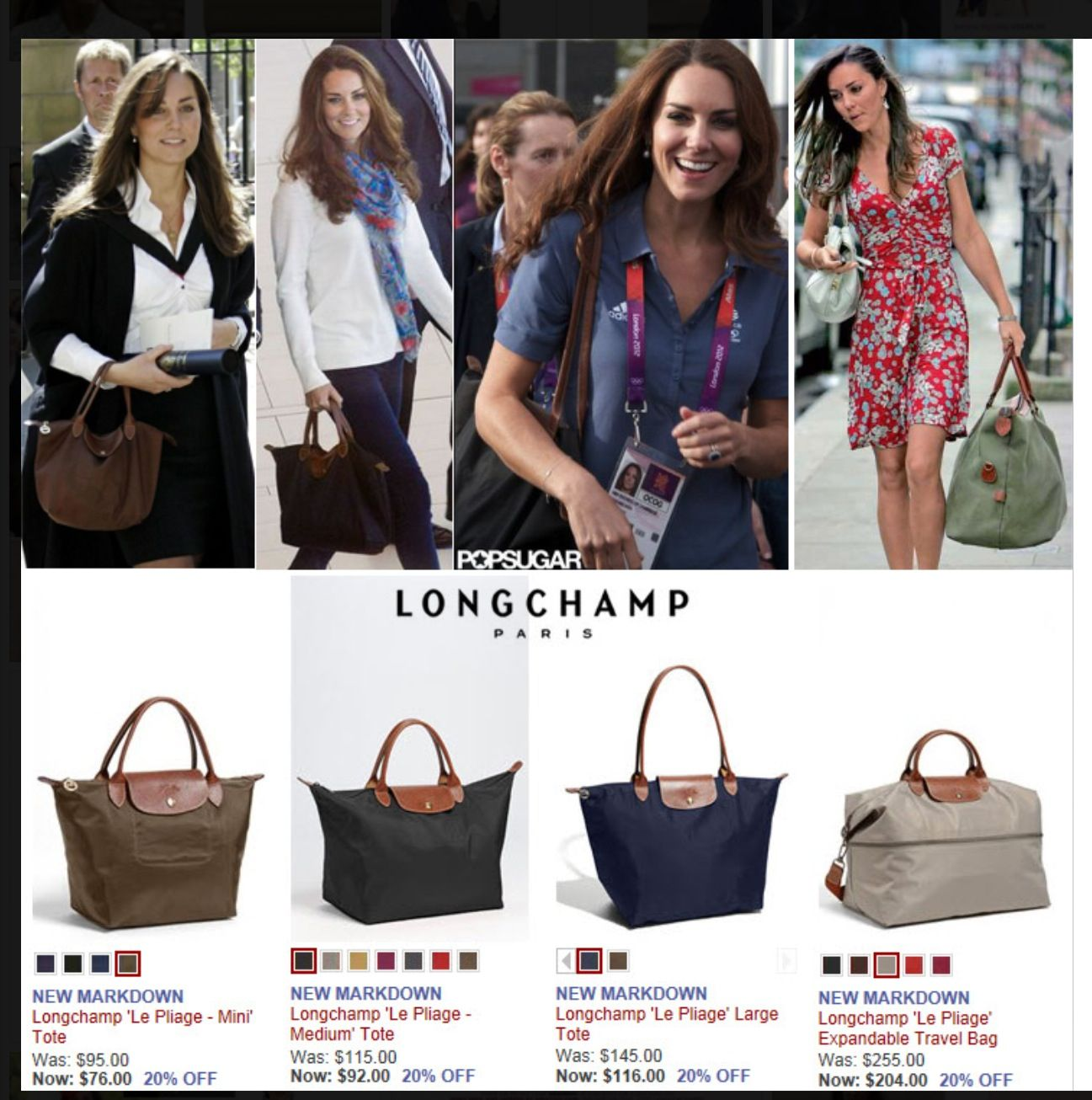 ce1adb8a3ae2 Kate Middleton Longchamp . . . on my wish list.