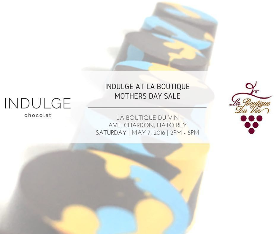 Mother's day is right around the corner! We'll be at @boutiqueduvin today with a variety of gift options for Mom. See you there!. Indulge Chocolat | 787-412-8910. Boutique du Vin | 787-250-0008  #indulge #chocolat #indulgemom #chocolates #darkchocolates #chocolate #darkchocolate #darkchocolates #boutiqueduvin #laboutiqueduvin #bdv #indulgechocolat