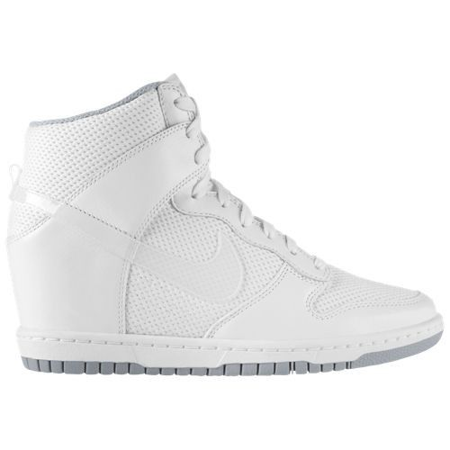 size 40 fe36c fd294 Nike Dunk Sky High Mesh Essential White Wolf Grey Womens Wedge Sneakers  44877100