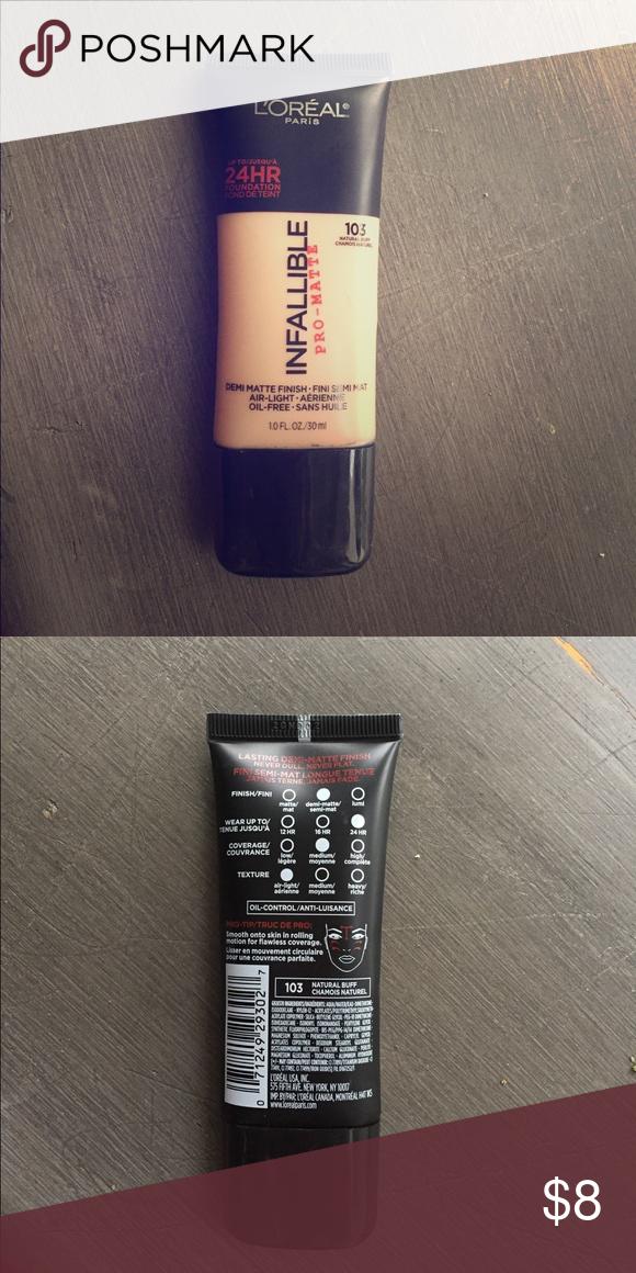 L'Oréal ProMatte Foundation Natural Buff Shade 103