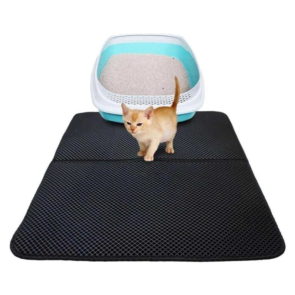 Double Layer Waterproof Pet Cat Litter Mat rockcoo Cat