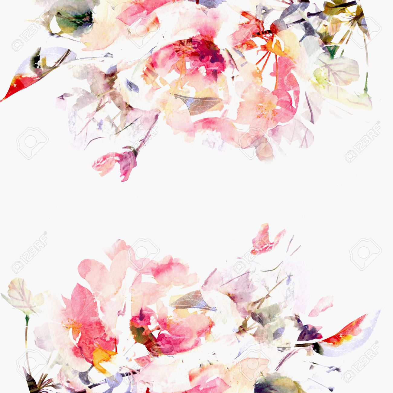 Watercolour floral backgrounds google search craft for Cadre floral mural