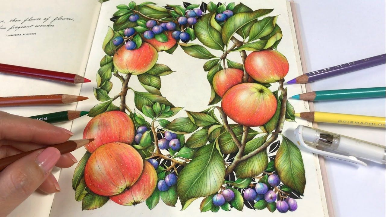 Crabapples Part 2 Apple Berries Coloring The Flower Year Coloring Colored Pencils Drawing Apple Colored Pencil Coloring Book