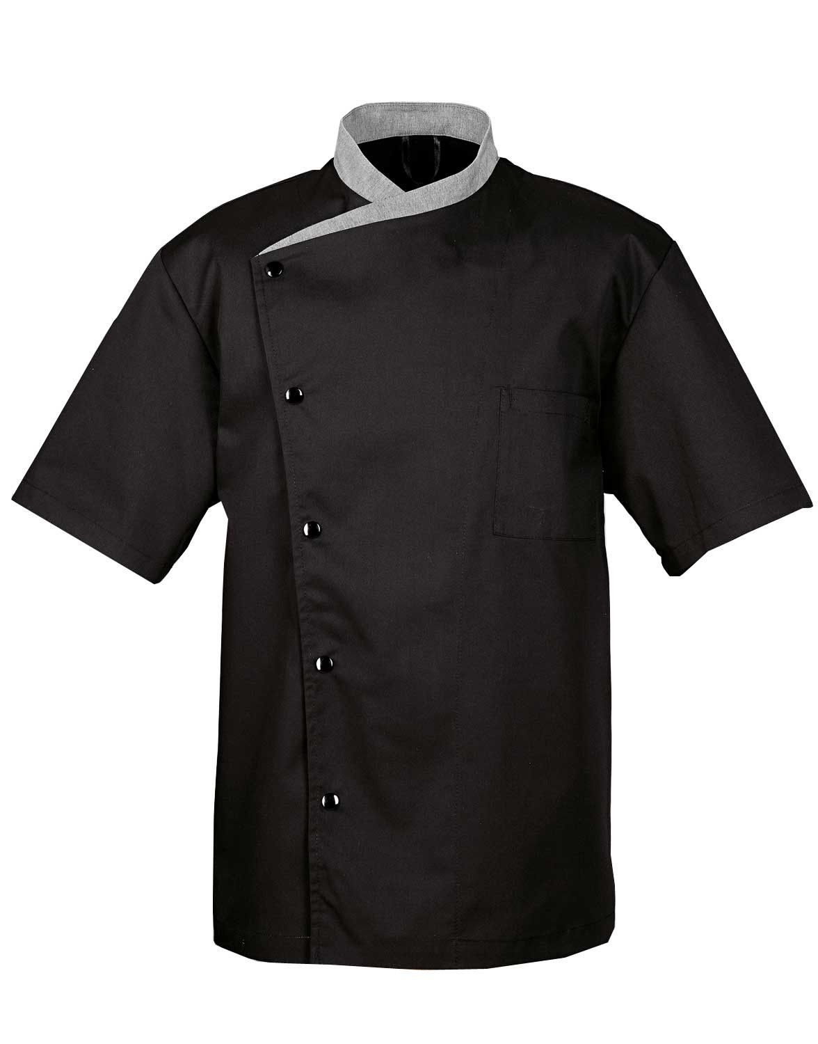 Black Short Sleeve Chef Coat