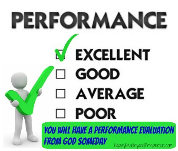 Will Have a Performance Evaluation from God Someday - performance evaluation