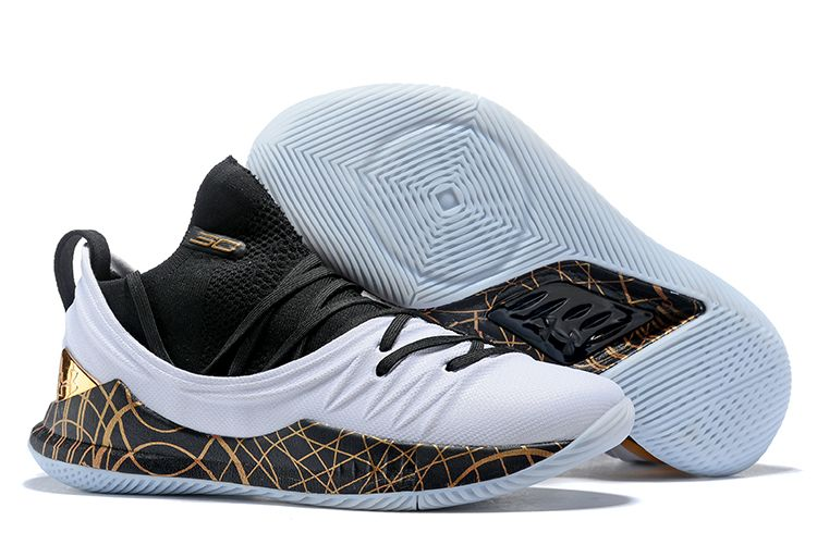 "2018 Under Armour Curry 5 Low ""Copper"" Black White For Sale  85a155b96360"