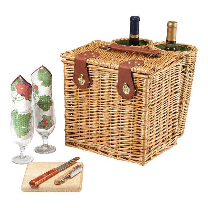 Vino Wine & Cheese Basket Set