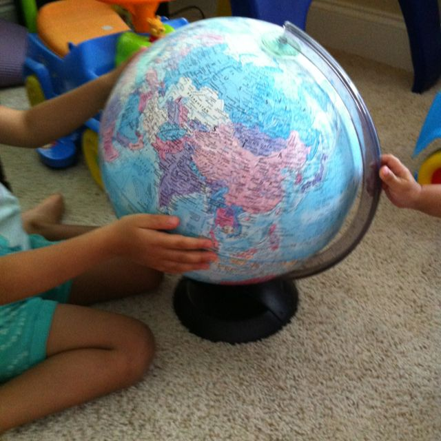 Globe every house needs one :-) and never too young to learn about our amazing world