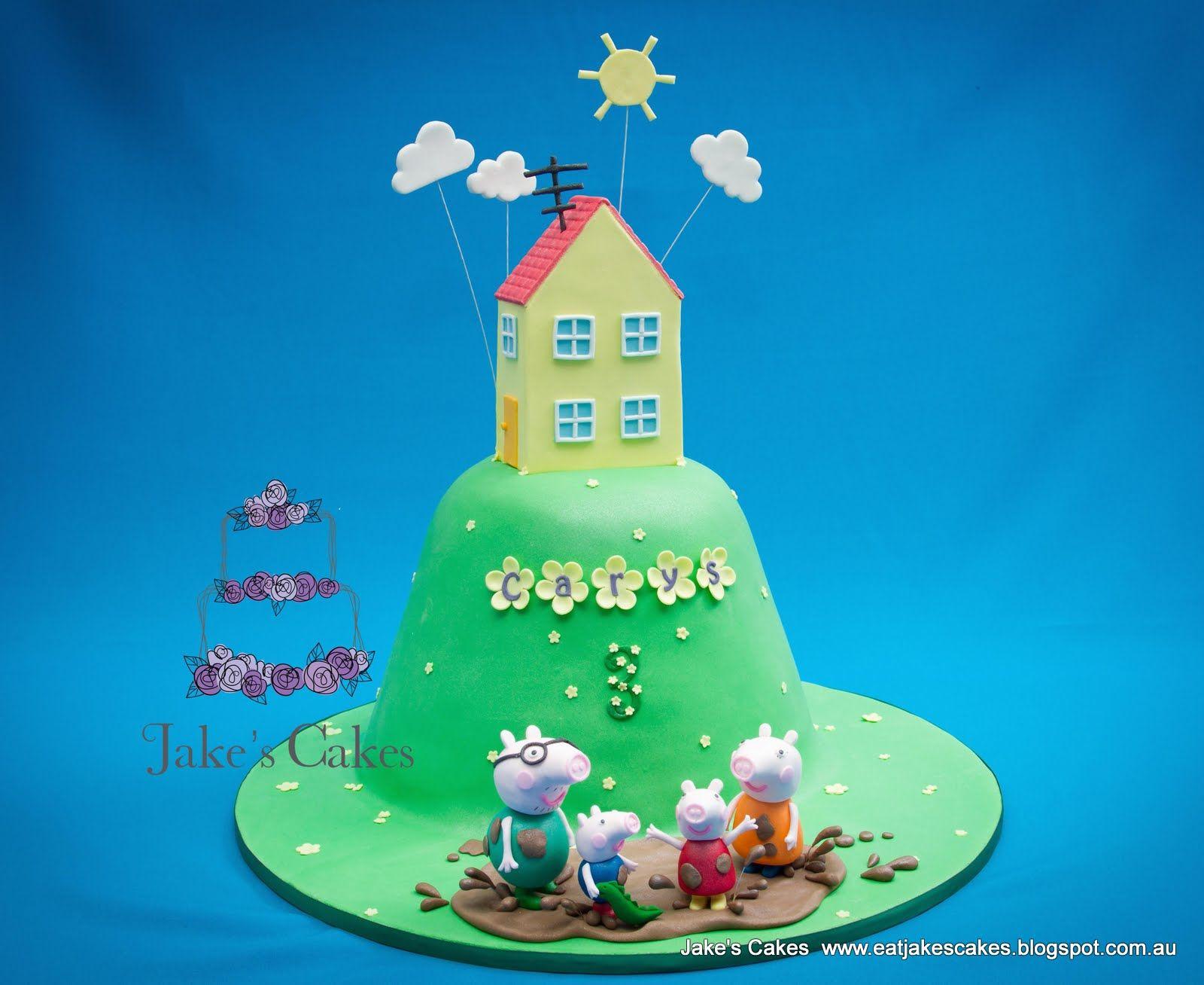 Jakeu0027s Cakes: My Daughteru0027s Peppa Pig Cake