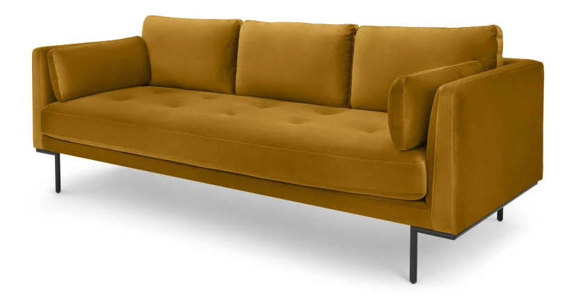 Harlow 3 Sitzer Sofa Samt In Senfgelb V Roku 2020