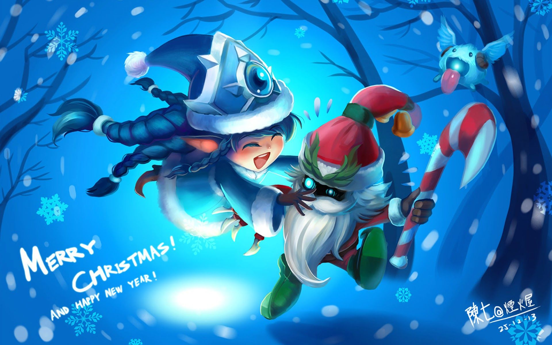 Winter Lulu Santa Veigar League Of Legends Lol League Of