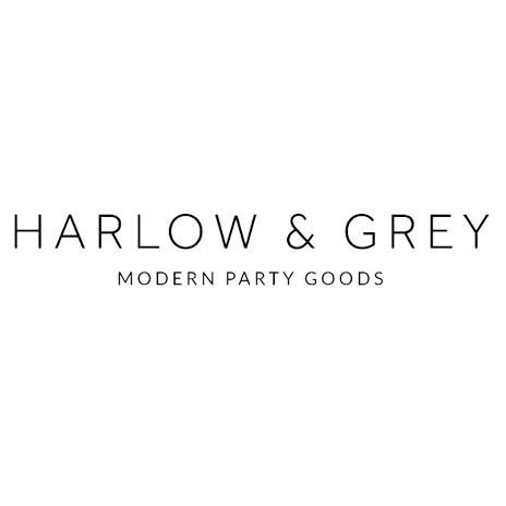 Harlow Grey Is A Line Of Modern Party Supplies Inspired By Fashion Graphic Design And Pop Culture