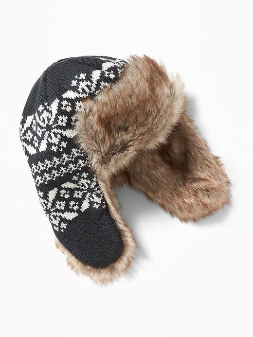 Old Navy Faux-Fur-Lined Trapper Hat for Toddler Boys  1e098344bfc