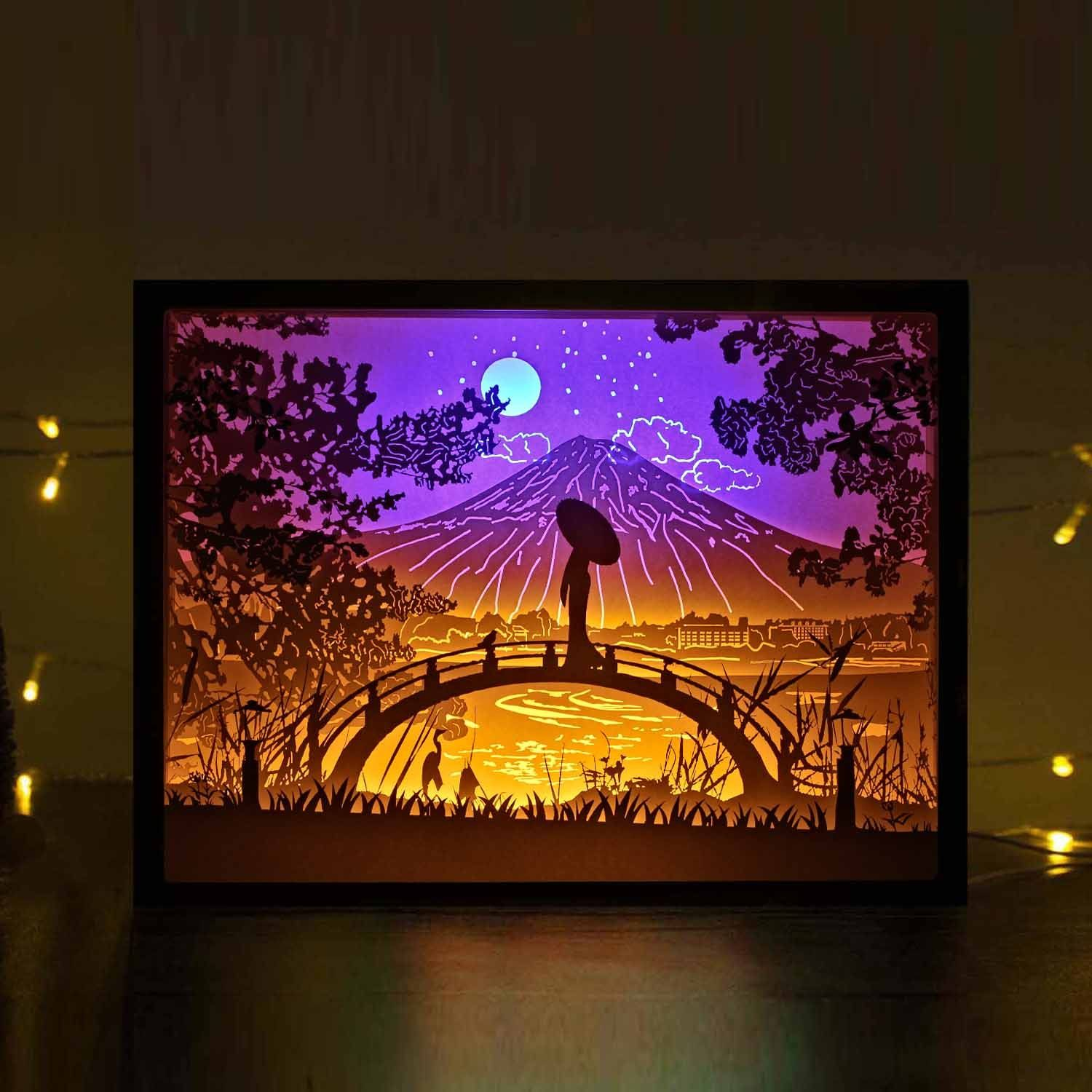 Image result for papercut light box 3d paper art shadow