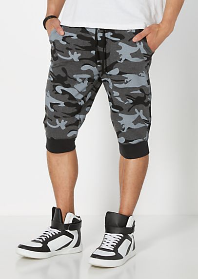 4d70fa0e7cd417 Black Camo Jogger Short