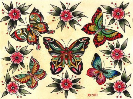 27 ideas tattoo butterfly old school ideas