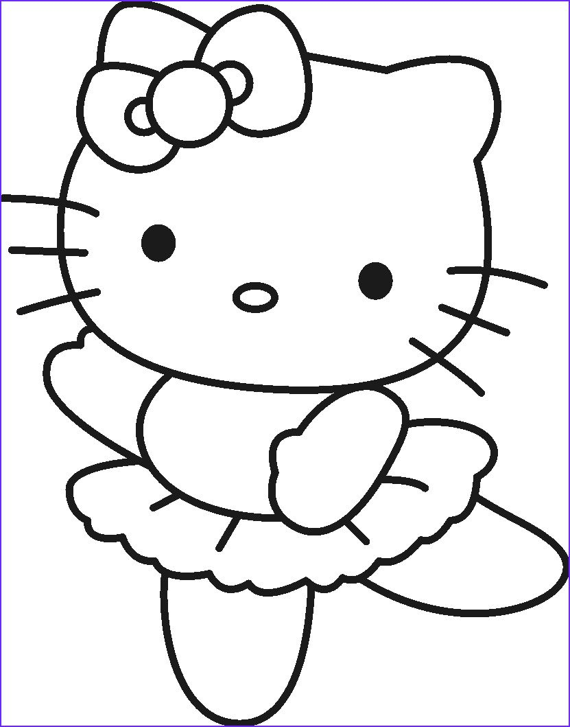 13 New Printable Hello Kitty Coloring Pages Images In 2020 Hello