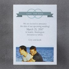 We Vow Save the Date Magnet - Male
