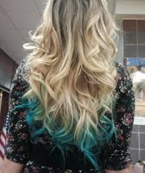 Image result for blue dip dye