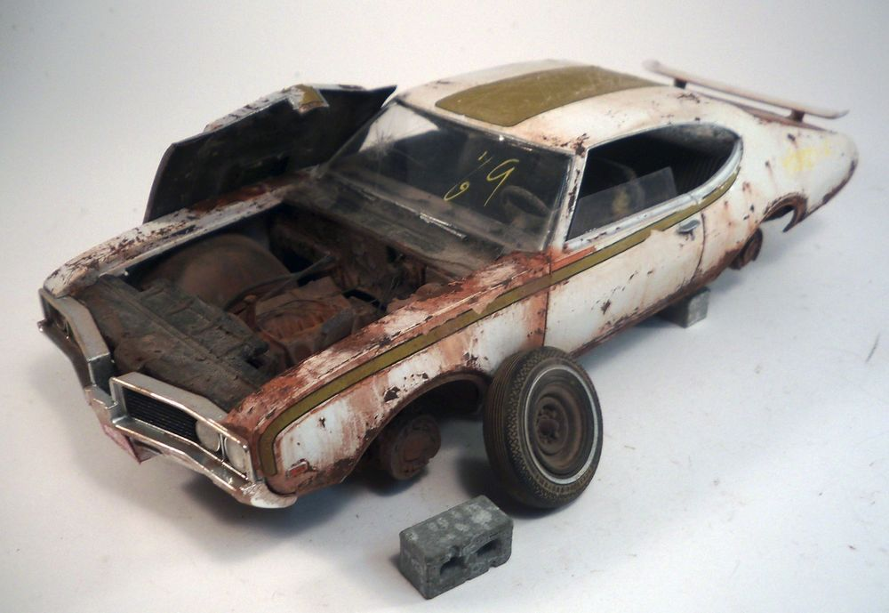 1969 Hurst Oldsmobile Pro Built Weathered Barn Find Junkyard Custom 1 25 AMT