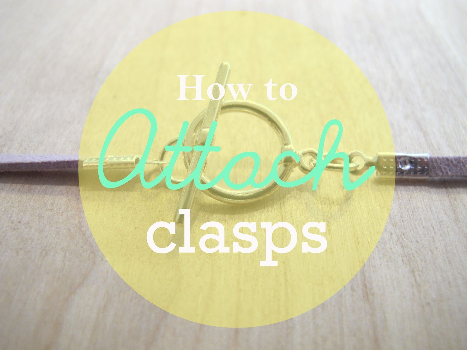 How to attach different clasps. Simple, to the point and good pics.