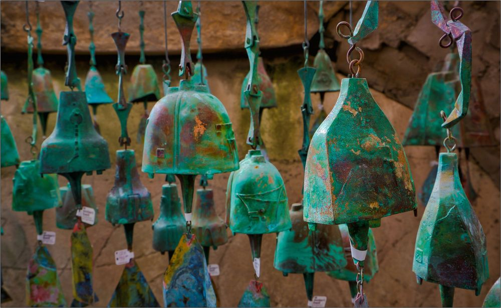 Paolo Soleri - Bells in Cosanti Gallery, Arcosanti