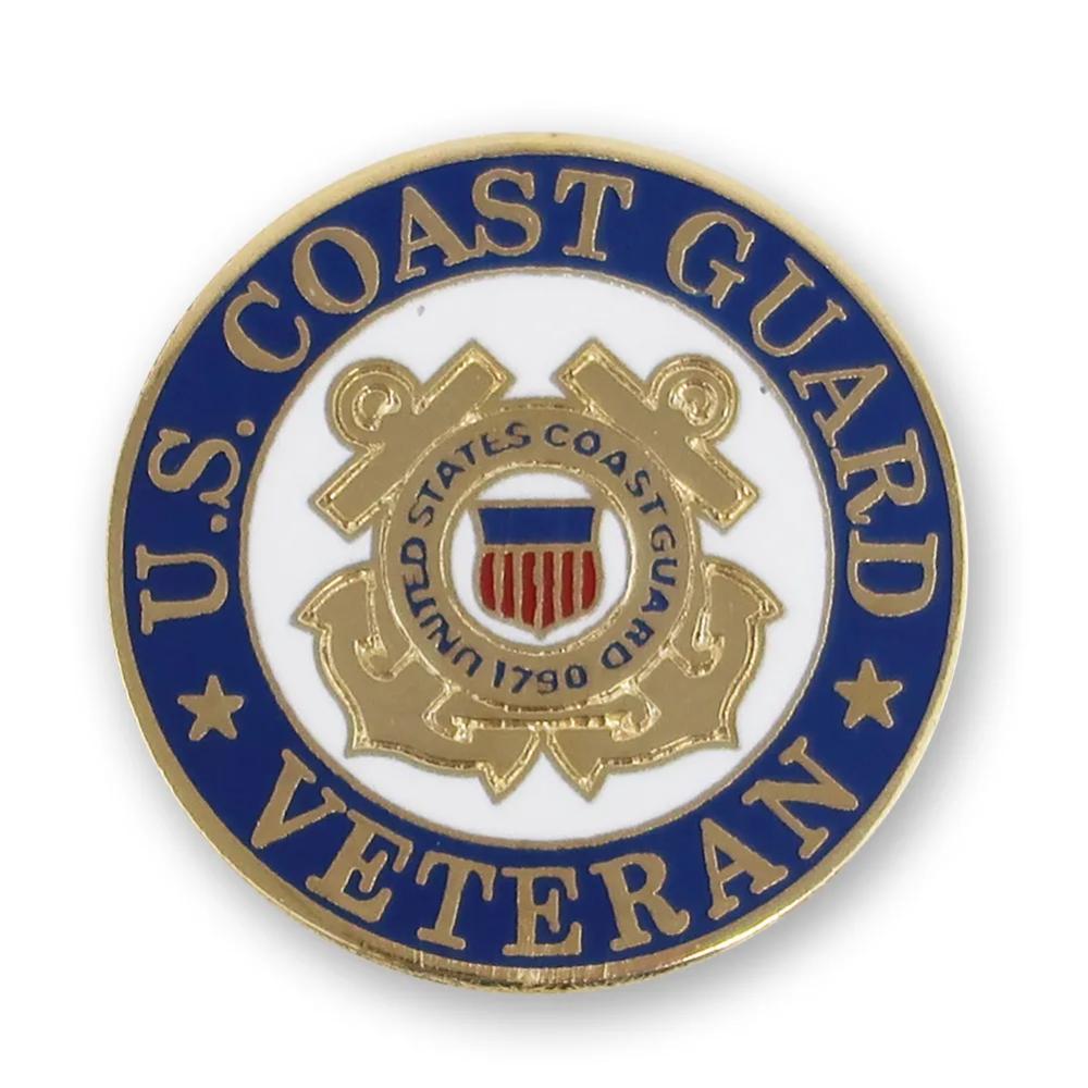 U S Coast Guard Veteran Lapel Pin Coast Guard Veteran Coast Guard Veteran