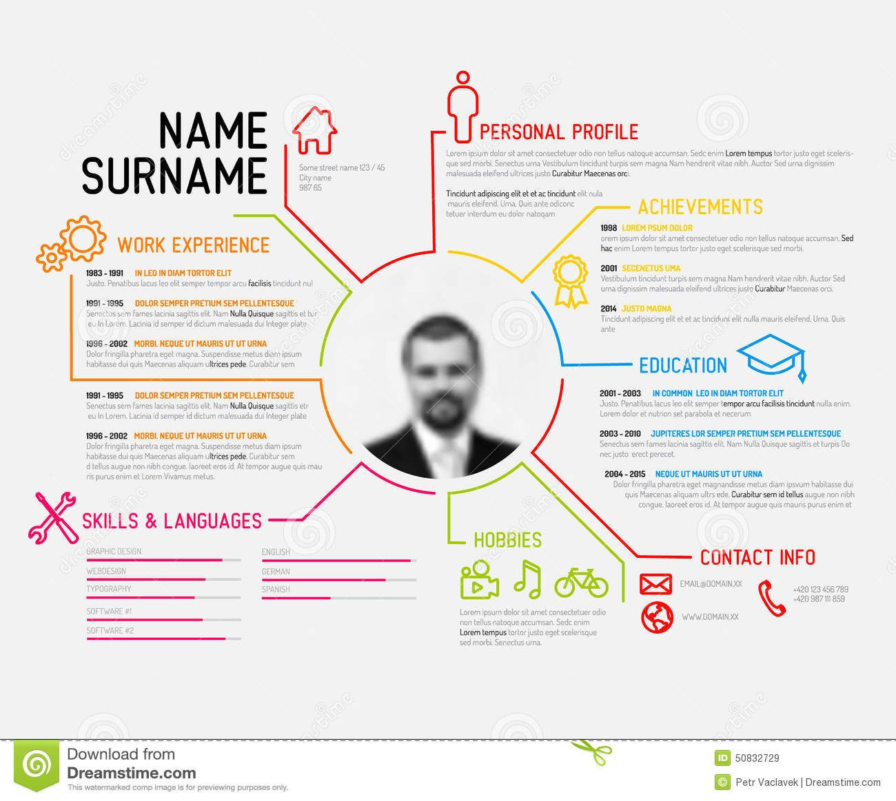 Superbe Original Cv / Resume Template   Download From Over 36 Million High Quality  Stock Photos,