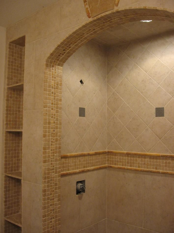 Travertine tile 1 inch mosaics and accent pieces for the