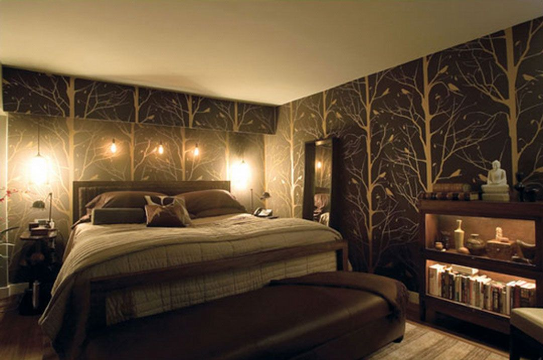 Omg This One I Absolutely Love From The Bedding To The Walls It Is Abosolutely Me Because It Has The Nature As Teenage Bedroom Wallpaper Bedroom Bedroom Design