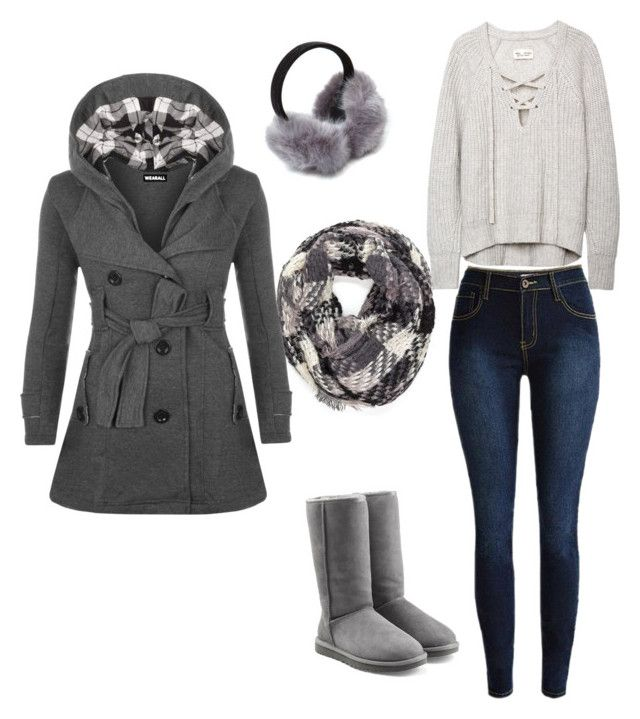"""""""shades of grey"""" by theresadc on Polyvore featuring UGG Australia, WearAll, women's clothing, women's fashion, women, female, woman, misses and juniors"""