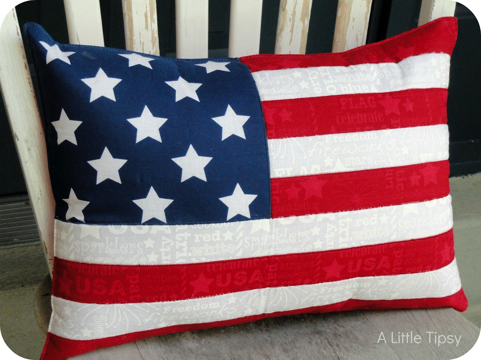 American stars and stripes pillow from a place mat red for Imagine crafts craft mat