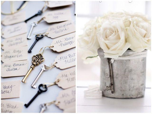 wedding decor vintage keys #wedding #decoration | Wedding ...