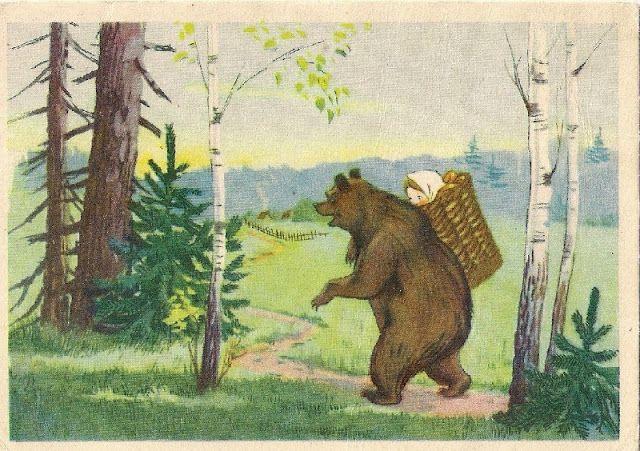 A Polar Bear S Tale Masha And The Bear Masha I Medved Narodnaya Skazka Skazochnye Illyustracii Iskusstvo
