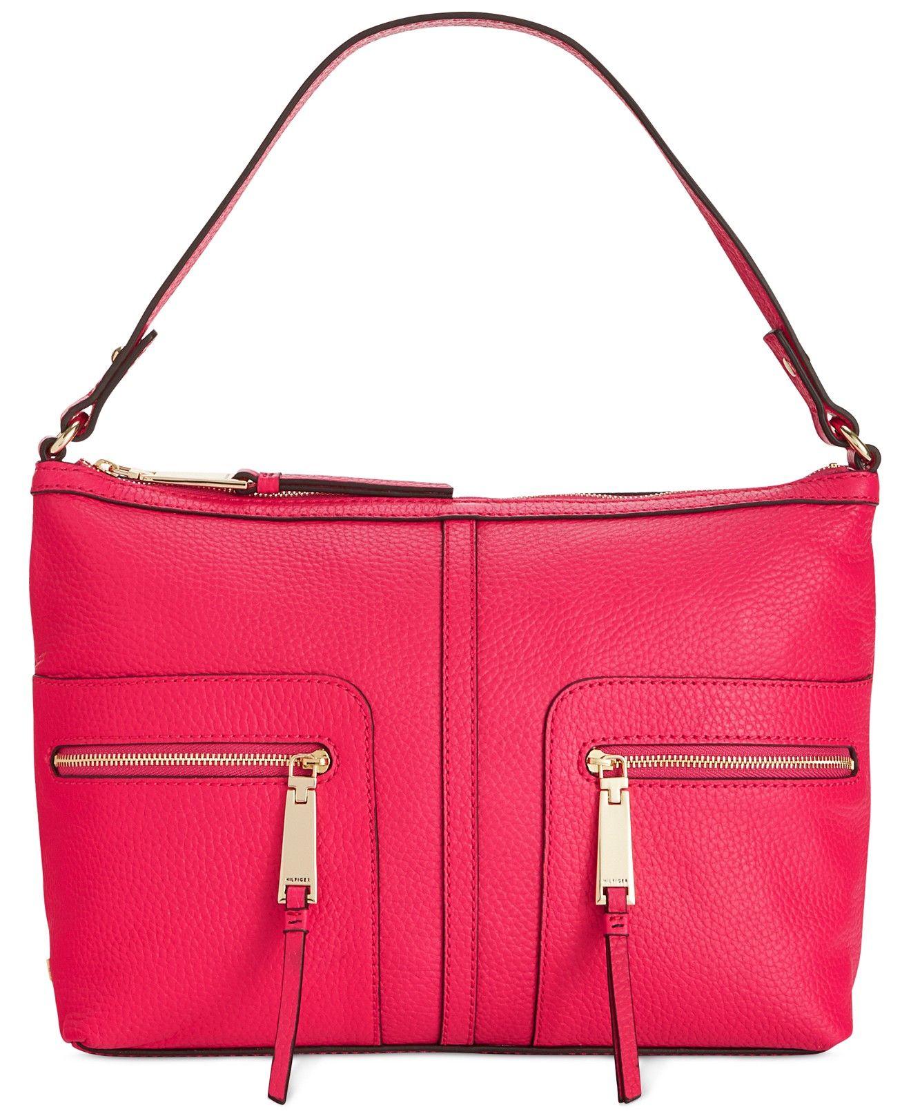 0f9ea1dc119 Tommy Hilfiger T-Group Pebble Leather Hobo - Hobo Bags - Handbags &  Accessories - Macy's