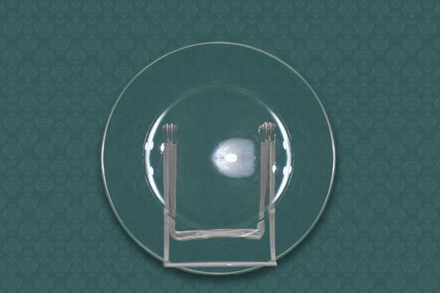 Clear glass dinner plate 9 party rentals