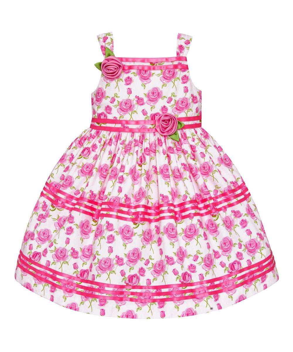 Pink Rose Ruffle Dress - Girls | Beleza | Pinterest | Ropa bebe ...