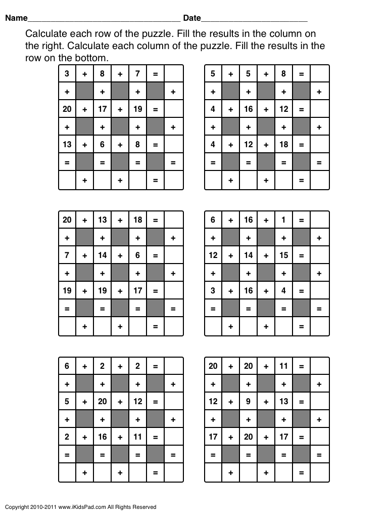 addition subtraction practice for class 2 - Google Search | Shourya ...