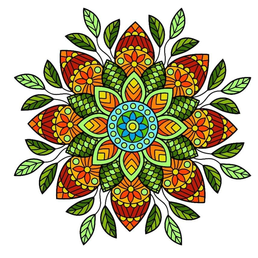 #mandala #leafpattern #art #artist_features # ...