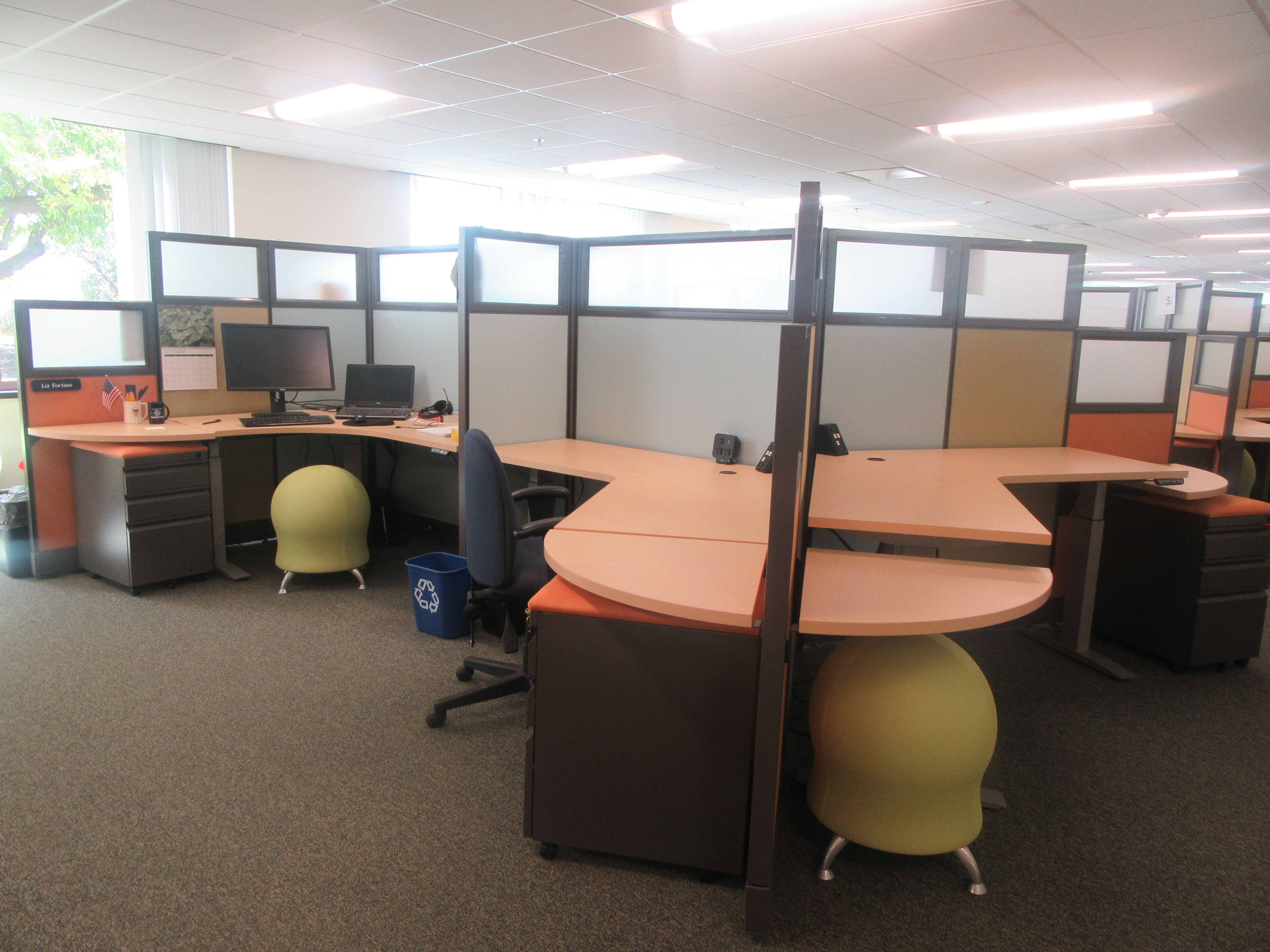 Table dining set moreover galant stand up desk and rationell variera - High Low Cubicles With Ergonomic Height Adjustable Desks Http Joycecontract