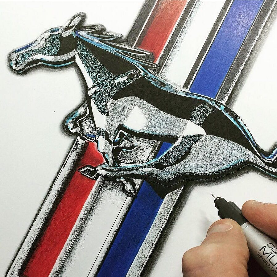 Phil Fitts Ford >> Illustrate your world. : @rlitster #Ford #Mustang # ...