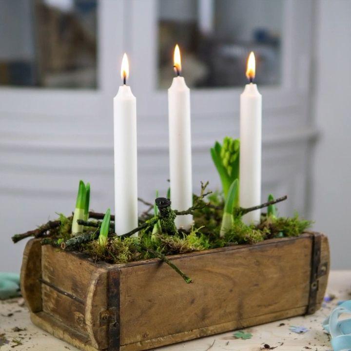 DIY Winterdeko in der alten Ziegelform - Deko-Hus