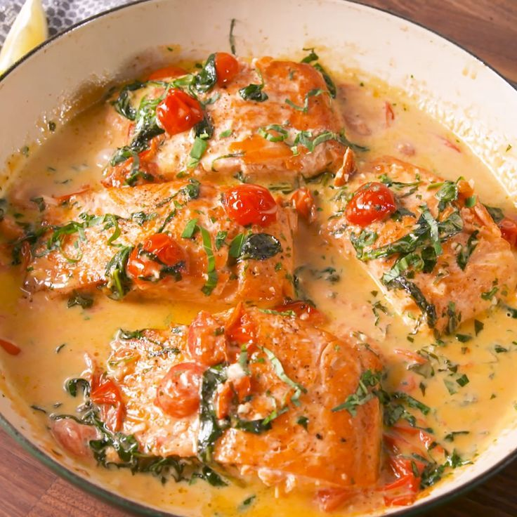 Tuscan Butter Salmon #salmonfood