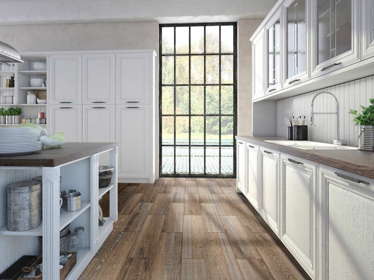 Bohemian Wood Floor Tile | CTM | Stylish Kitchens | Pinterest ...