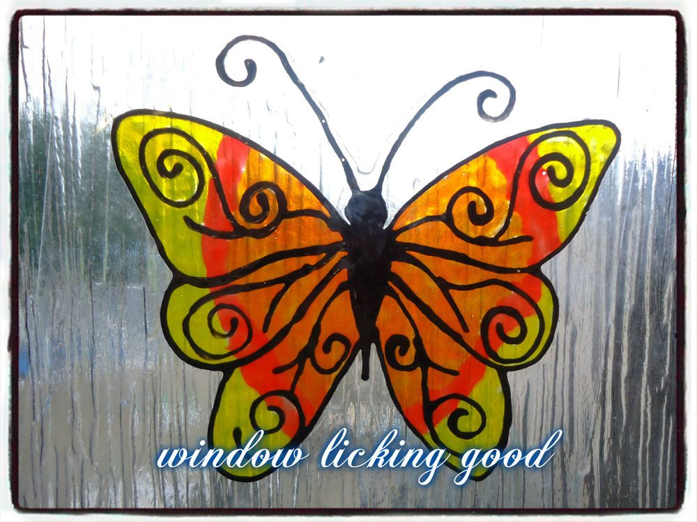 Unique butterfly patio door safety stickers window cling colourful unique butterfly patio door safety stickers window cling colourful eyecatching planetlyrics Image collections