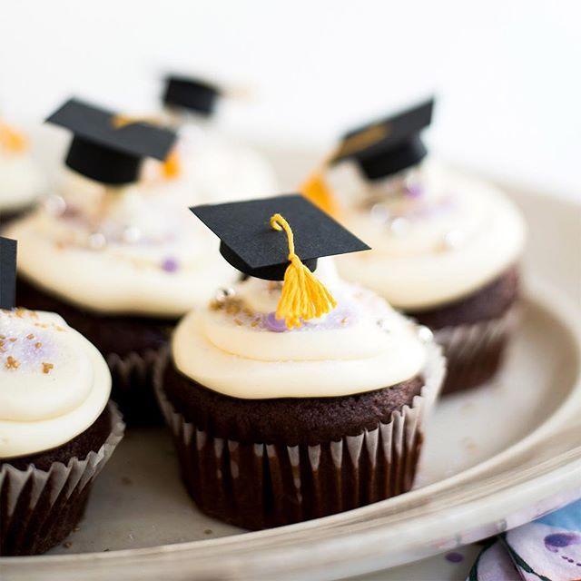 Mini Graduation Caps Cupcake Toppers Diy Cupcake Toppers Diy