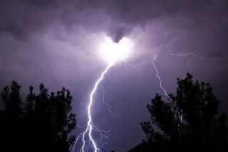Heart Shaped Cloud With Lightning